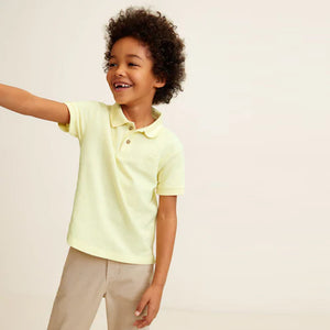 MNGO Boys Cotton polo With lest Chest Tonal Embroidery  (MA-735)