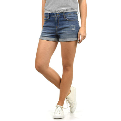Andreja Women's Denim Jeans Shorts Stretch Relaxed-Fit (BL-800)