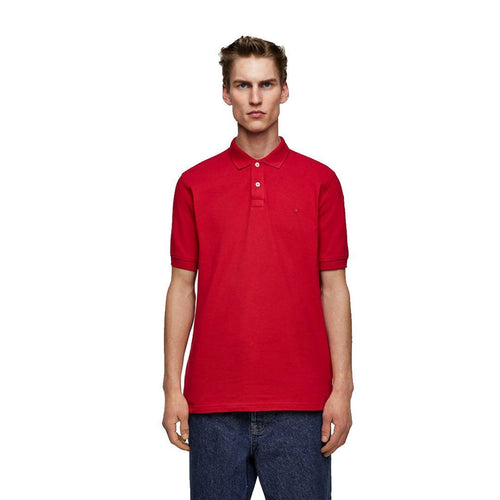 RED BASIC SIGNATURE SLIM FIT POLO SHIRT (ZA-155)
