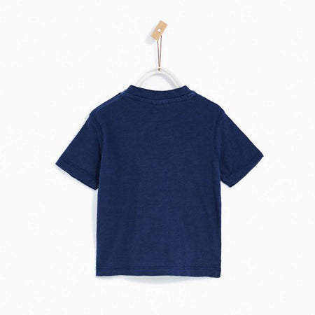 Kids navy 'Perfect Nap' Printed Tee Shirt (ZA-3034)