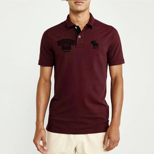 Burgundy Durable Applique Embroidery Pique Polo Shirt (AF-823)