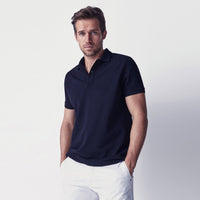 Navy Performance Basic Regular Fit Pique Polo Shirt (GA-374)
