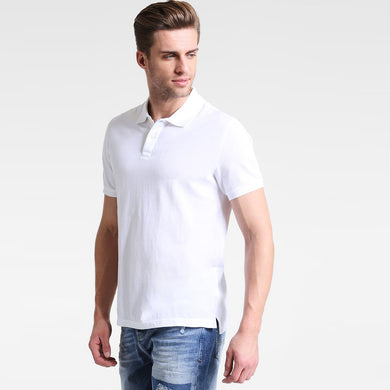 White Performance Basic Regular Fit Pique Polo Shirt (GA-379)