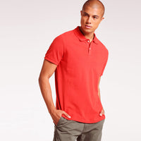 Pale Red  Performance Basic Regular Fit Pique Polo Shirt (GA-372)
