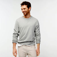 L.L Men Basic Grey Super Soft Crew Sweatshirt (LL-10053)
