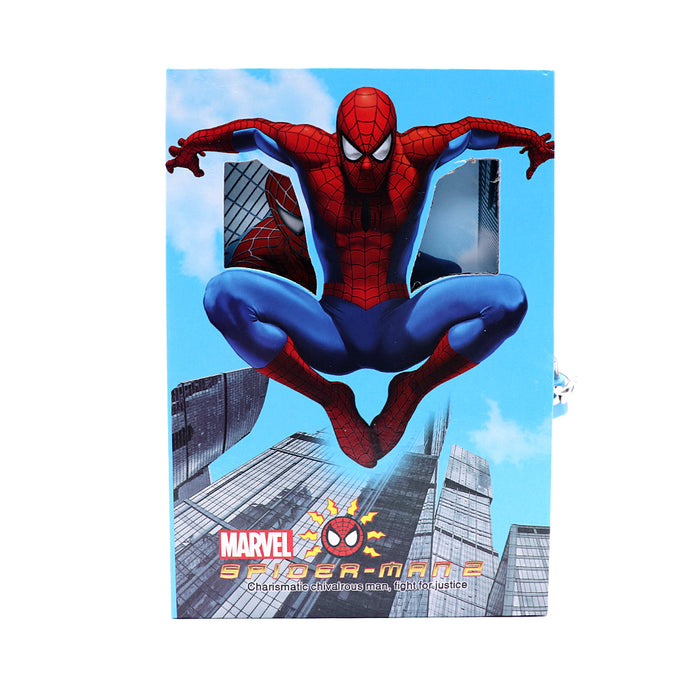 SPIDER MAN DESIGN BIG SIZE PERSONAL LOCK DIARY FOR KIDS  (NB-5651)