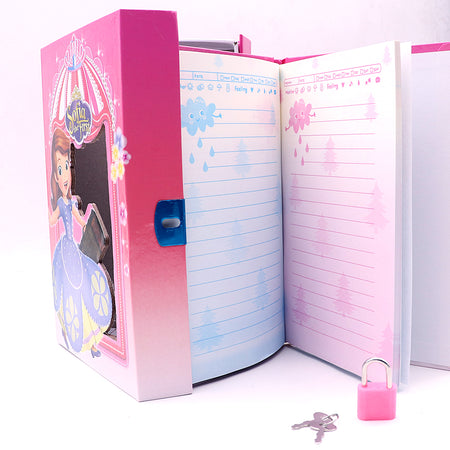 SOFIA DESIGN BIG SIZE PERSONAL LOCK DIARY FOR KIDS (NB-5650)