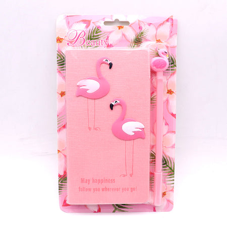 Cute Flamingo Stationery Diary Notebook and Gel Pen Journal Set Gifts (NB-20009)