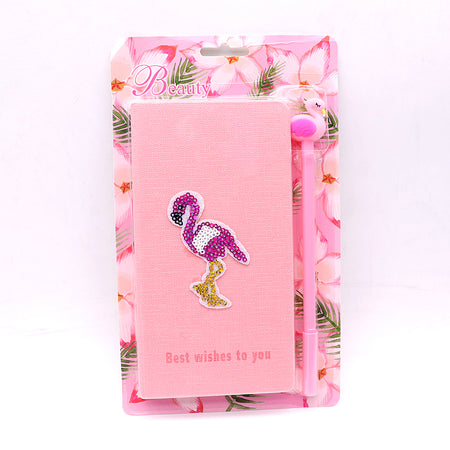 Cute Flamingo Stationery Diary Notebook and Gel Pen Journal Set Gifts (NB-20010)