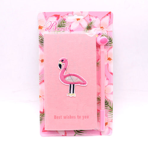 Cute Flamingo Stationery Diary Notebook and Gel Pen Journal Set Gifts (NB-20014)