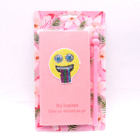 Cute Smiley Stationery Diary Notebook and Gel Pen Journal Set Gifts (NB-20007)