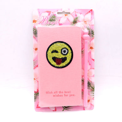 Cute Smiley Stationery Diary Notebook and Gel Pen Journal Set Gifts(NB-20005)