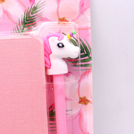 Cute Unicorn Stationery Diary Notebook and Gel Pen Journal Set Gifts (NB-20003)
