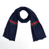 All over Jacquard weaved Monogram & Ionics Stripe Stole  (GU-2401)