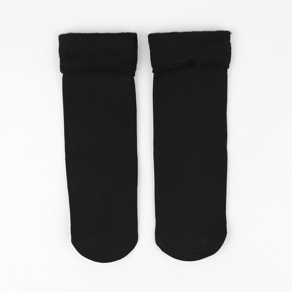 Pack of 1 Pair Women Nylon Plus Velvet Thickening Socks Solid Breathable Elastic Force (SO-31011)