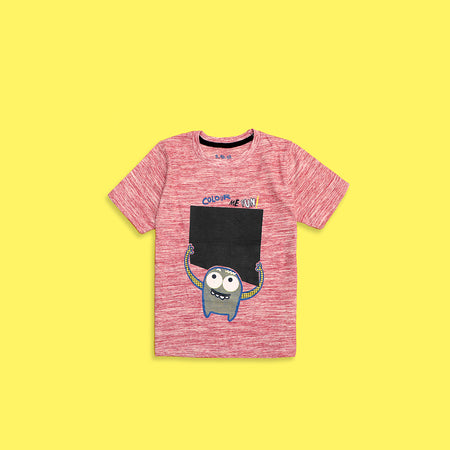 Kids Monster fun Textured Graphic Tee Shirt (TS-4234)
