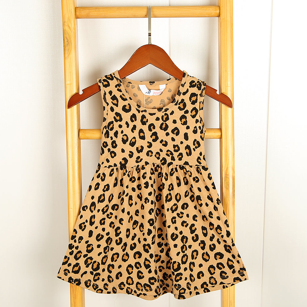 Girls Premium Quality All-Over Leopard Print Soft Cotton Top (HM-11961)