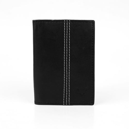 Genuine Full Grain Leather Card Holder With Contrast Stitch