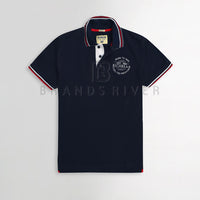 Navy Emblem Polo Shirt (RB-191)