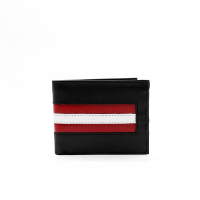 DEAR STAG GENUINE LEATHER CONTRAST STRIPED WALLET (DI-2370)