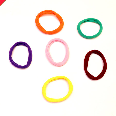 Pack of 15 assorted colored basic Hair bobbles (PO-4256)