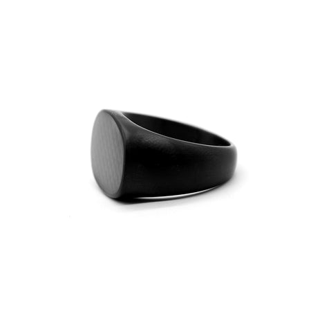 BLACK TEXTURE TITANIUM LUXURY RING (RI-2423)