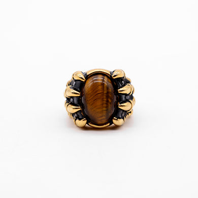 PAW GOLD TONE STONE TOP RING (RI-2420)