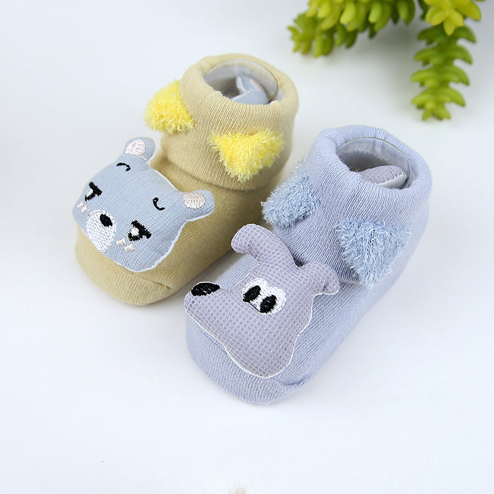 Pack of 2 Baby  Imported Cartoon Socks for 0-6 Months