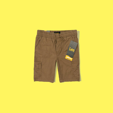 Kids Cotton Chino Cargo pocket Shorts (LE-3040)