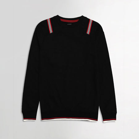 MEN LTF Tipped Rib Sweat Shirt with Web Tape Detail (LF-1225)