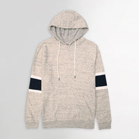 Men Textured Fleece Pullover Hoodie with Arm Stripes (GE-11320)