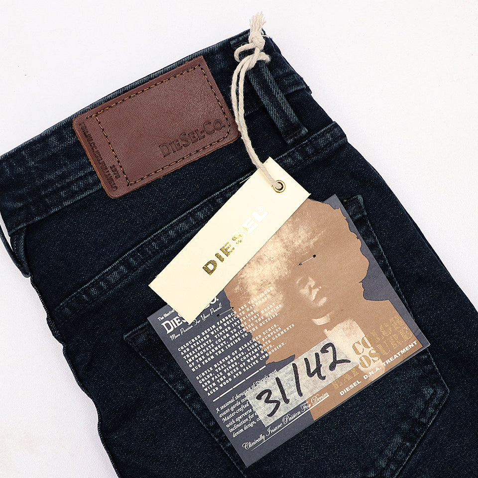 exclusive navy Delamor 'slim fit' stretch jeans (DI-1232)