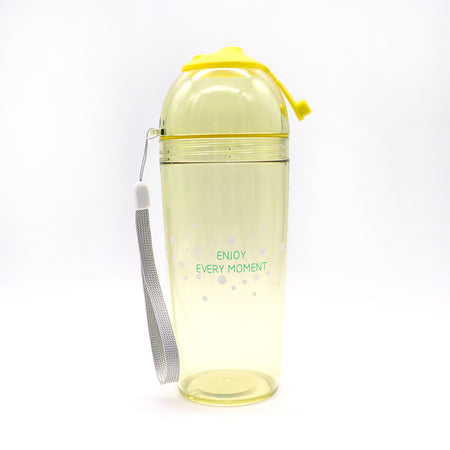 Happy Life Ice / coffee / Juice Drinking Cup 420 ML With Straw  (BT-20165)