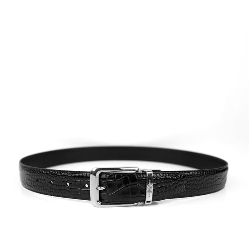 Men Pure Genuine Leather Belt with silver Buckle  (BR-11334)