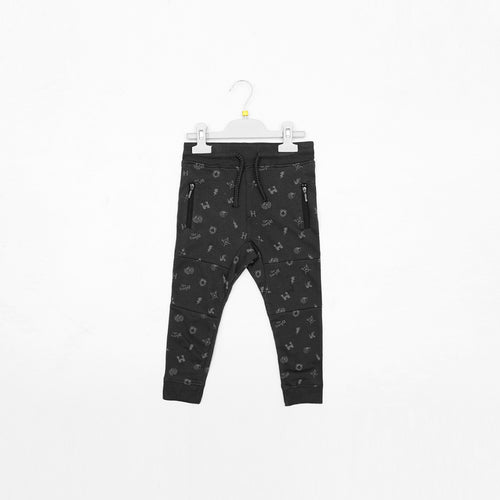 OLDER BOYS PRINTED CLOSE BOTTOM JOGGER (TE-1291)