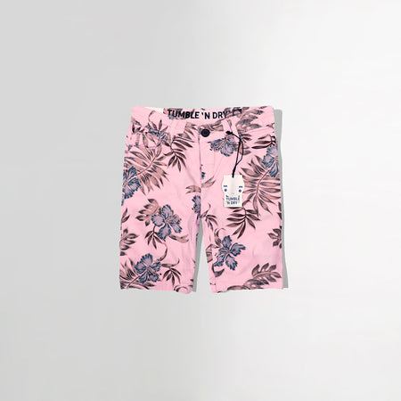 BOYS PINK PATTERN PRINT CHINO SHORTS (TD-2463)
