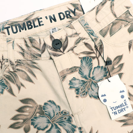 BOYS BEIGE  PATTERN PRINT CHINO SHORTS (TD-2461)