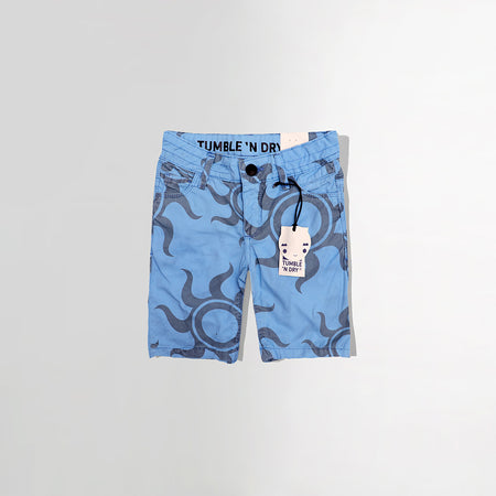 BOYS SKY PATTERN PRINT CHINO SHORTS (TD-2464)