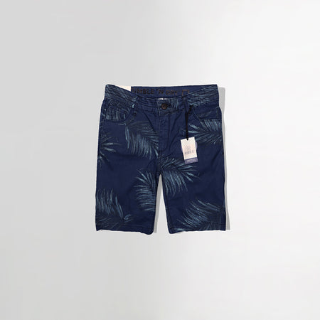 BOYS NAVY PATTERN PRINT CHINO SHORTS (TD-2460)
