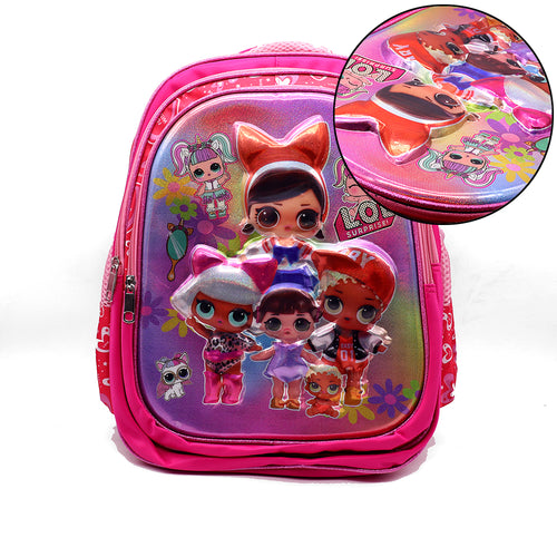 3D POWER GIRLS SCHOOL BAG  (BA-2474)