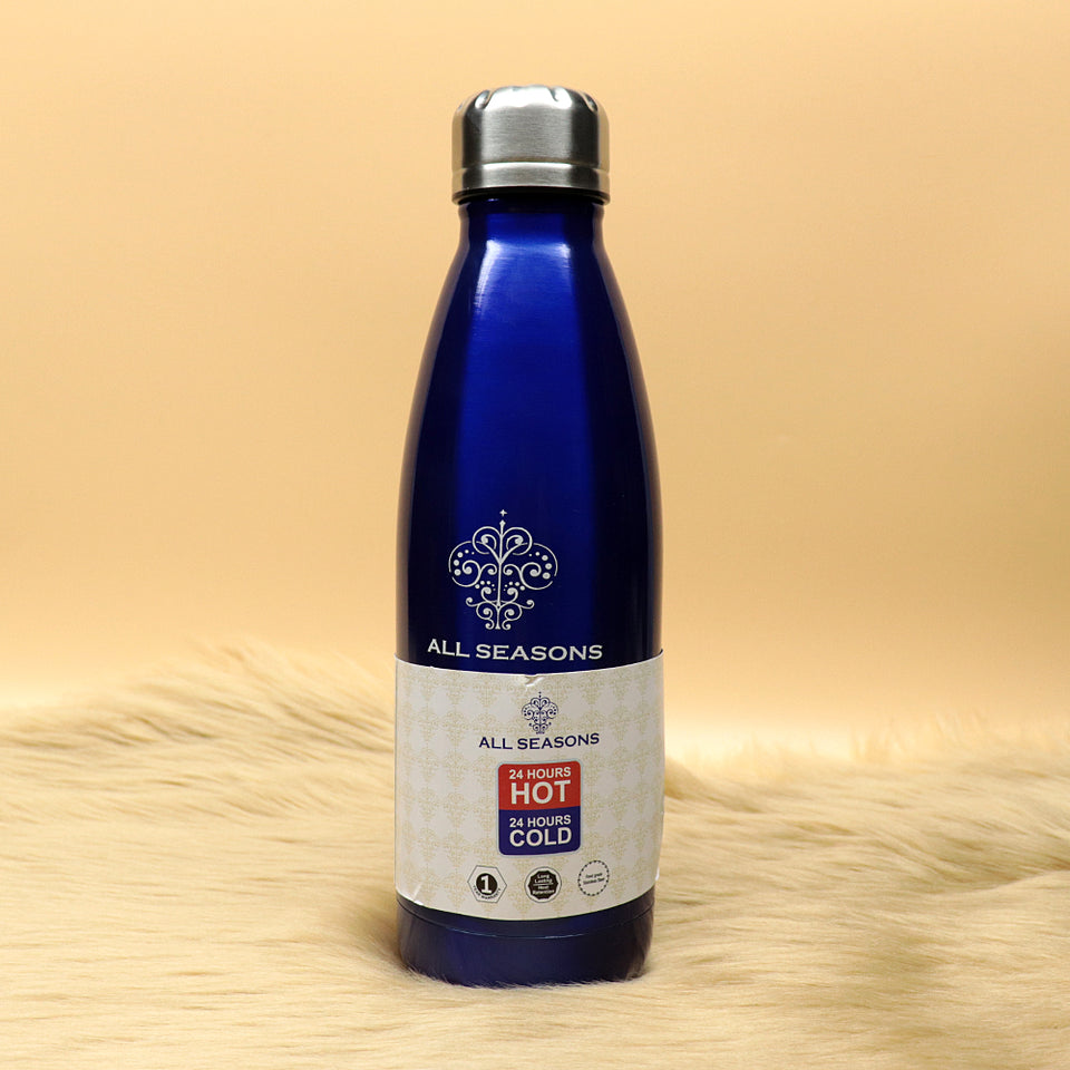 All Seasons Wave Blue Stainless Steel Double wall insulation Bottle - 500ml (BT-20148)