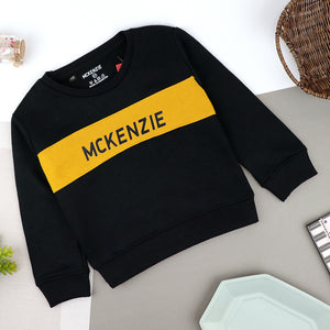 Boys Color Block Signature Printed Fleece Sweatshirt (MK-10332)