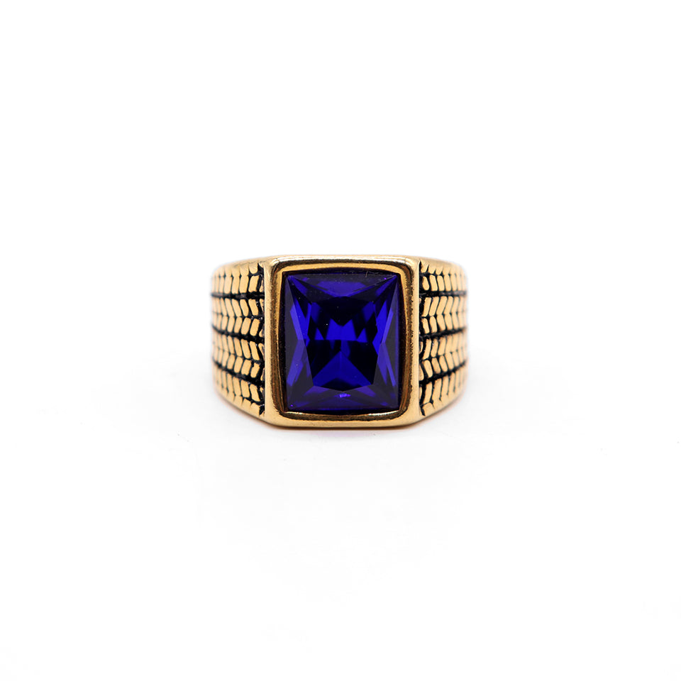 PREMIUM QUALITY BLUE STONE RING (RI-2485)