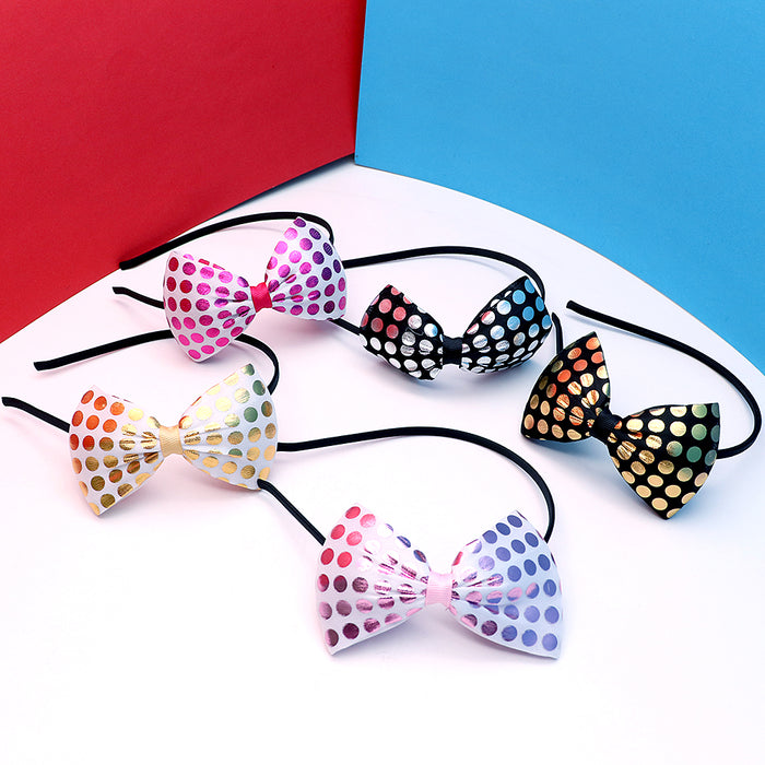 Decent polka dots Bow Hairband for Girls