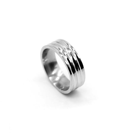 MINIMAL SILVER CLASSIC ENGRAVED RING (RI-2490)