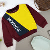 Boys Color Block Signature Printed Fleece Sweatshirt (MK-10353)
