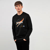 HEAVY FLEECE CREW NECK NASA GRAPHIC PRINT SWEATSHIRT (BR-10377)