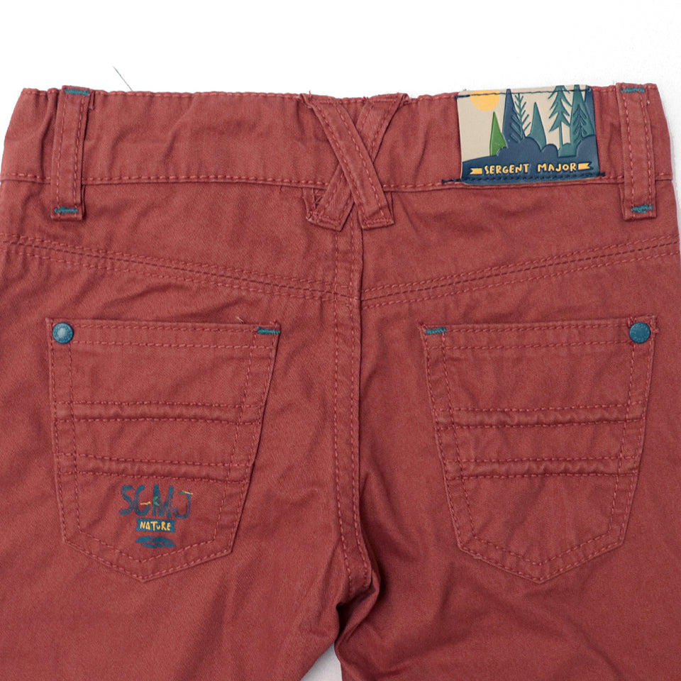 Kids Cotton Chino Pants with Adjustable Waistband  (SM-5504)