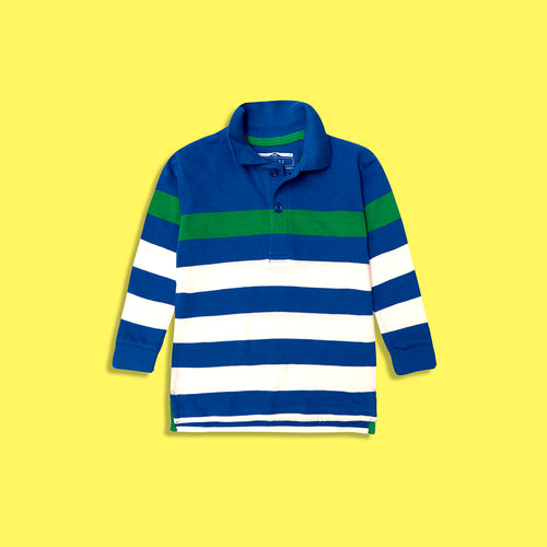 Boys Cotton Striped Polo Shirt (GP-5176)