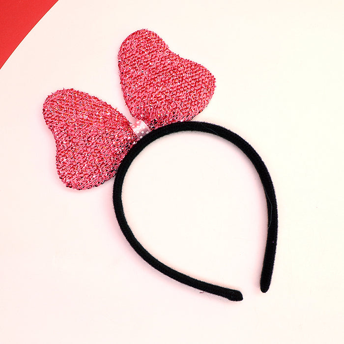Lurex Decorated  Bow Hairband for Girls (HB-3931)